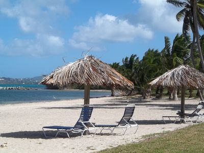 The beach at Club St. Croix. It is very quiet and relaxing.