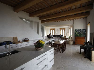 Photo for Contemporary Stone House - Sweeping View of the Tiber  Valley - 1 hour from Rome