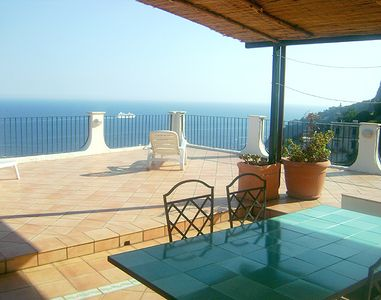 The furnished and partly roofed outdoor area – your living room on warm days.