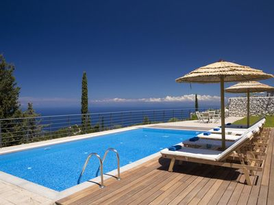 Photo for 20% OFF:Villa with charming & peaceful sea view, close to Kathisma beach