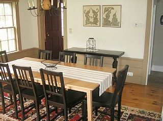 Modern dining room that seats 8