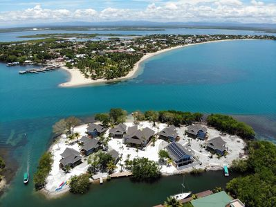 Private Island 1 minute boat ride from world famous Placencia Sidewalk