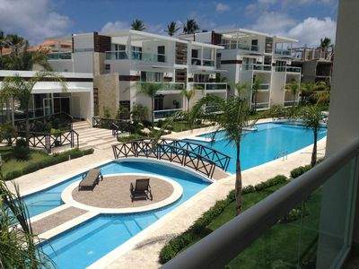 Photo for Costa Hermosa beautiful 2 bedrooms condo, 8 minutes walk to the beach.