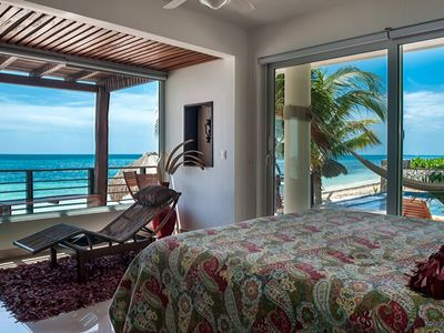 Photo for Luxury 2 bedroom beachfront condo with pool and hot tub, peaceful and elegant