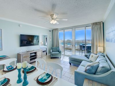 Photo for Waters Edge Unit 111 ~ Ground Floor and Beach Front ~ Steps to pool and Sand!