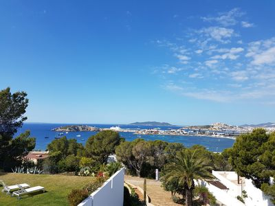 Wake up to this view of Talamanca bay, Ibiza Castle and Salinas in the distance