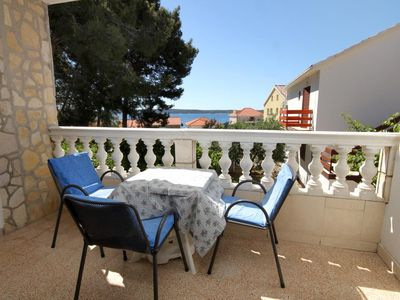 Photo for One bedroom apartment with terrace and sea view Zavala, Hvar (A-8799-c)