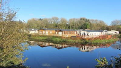 Photo for 4*, Woodland Vale, Ludchurch.  Near Saundersfoot & Tenby. Private, on the lake