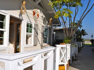 Photo for Perfection! Beautiful fully remodeled cottage w/AC, view, and steps to the sand!