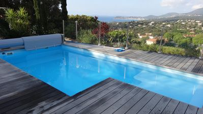 Photo for Californian-style house, 2 storeys,near St-Tropez,w/superb sea view & pool