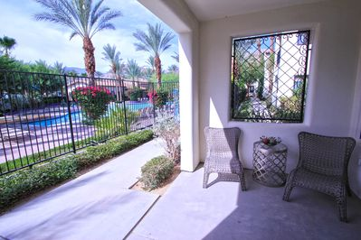 Master Suite patio with view of main pool area.