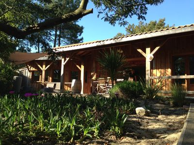 Photo for Ma Cabane in Ferret - Villa in the pine forest at 200 m of the basin - La Vigne