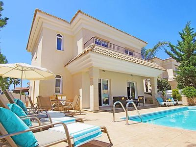 Photo for Paralimni Holiday Home, Sleeps 6 with Pool, Air Con and WiFi