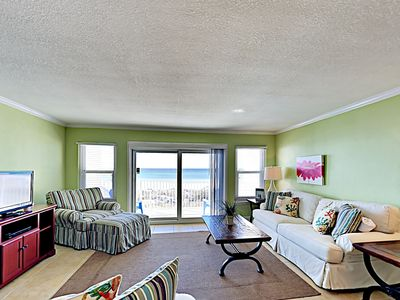 Photo for Beach Condo Sitting on the Sand in Crystal Beach! Private Balcony! Located Near Dining, Shopping, and More!