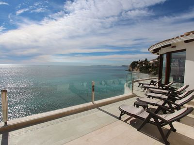 Photo for First line Villa with amazing sea -and coast views, sleeps 16!