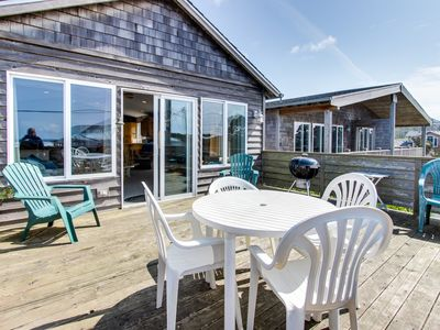Photo for Tranquil beach house w/ ocean view, private hot tub & stylish decor - dogs ok!