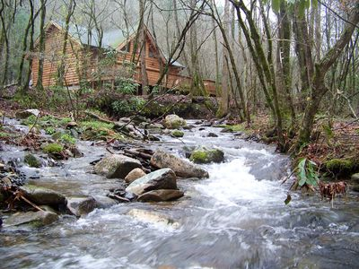 Creek Front Mountain Cabin With Jacuzzi Vrbo