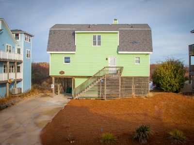 Photo for OCEANFRONT :  Class, cozy beach house. Hear, smell and sea the ocean!