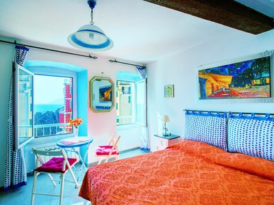 Photo for Apartment in the marina of Riomaggiore with sea view