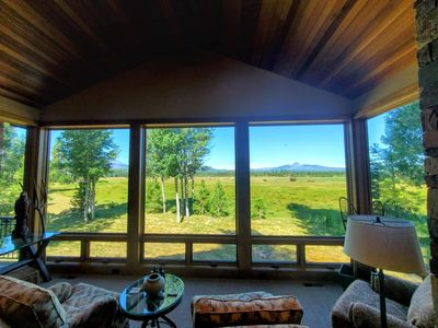 Photo for FOUR CASCADE MOUNTAINS AND THE BIG MEADOW FROM YOUR WINDOWS!