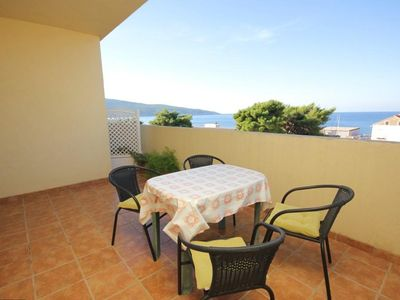 Photo for Two bedroom apartment with terrace and sea view Komiža, Vis (A-8856-b)