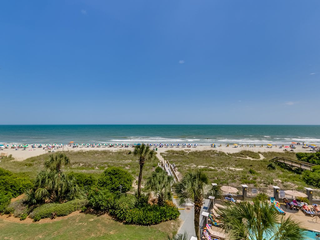 Large Oceanfront Two Bedroom Two Bath Condo At Carolina Dunes 3rd Floor Arcadian Shores