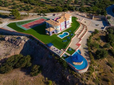 Photo for This 5-bedroom villa for up to 10 guests is located in Afandou and has a private swimming pool, air-