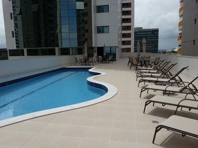 Photo for Beachfront flat in Boa Viagem Beach
