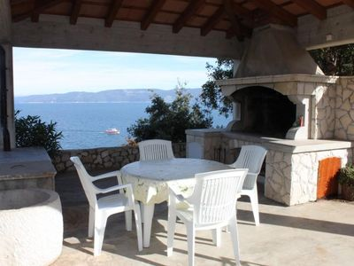 Photo for One bedroom apartment with terrace and sea view Duga Luka (Prtlog) (Labin) (A-2367-a)