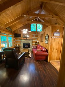 Photo for Unwind in the Smokies - updated log cabin - WIFI, hot tub, grill, balcony