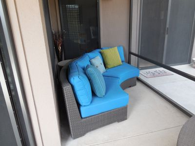 Enclosed Patio Furniture for Relaxing and Mountain Viewing in Privacy & Security