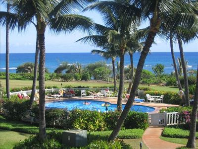 VIEW OF THE POOL FROM YOUR LANAI