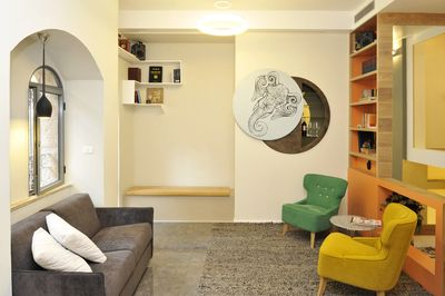 Living Room + Sofa opens as a bed for 1 person