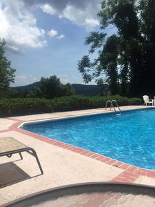 Photo for NEW!! Tryon Villa, sleeps 21, Prvt Pool, 14mi. to TIEC, WIFI Cable, mtn views