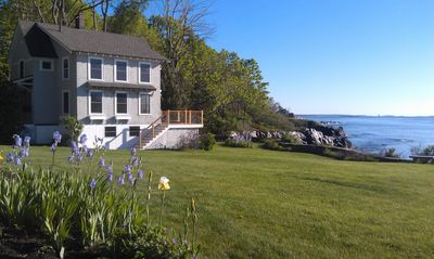 Photo for Oceanfront Cottage with Spectacular Views of Casco Bay