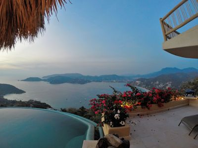 Photo for Heighest  View from a House  In Zihuatanejo Bay, La Ropa Beach & Pacific Ocean