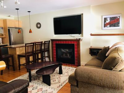 Photo for Two Bedroom/One Bath Condo with Private Hot Tub, Bbq, Laundry - Sleeps 5