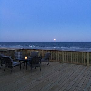 Moon rise deck view