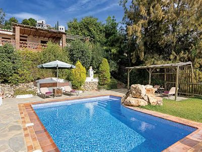 Photo for Countryside villa w/ 2 bedrooms, terrace with mountain views, pool & A/C