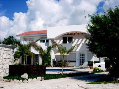 Photo for 5 Bdr Villa Steps to the Beautiful White Sand Beach!