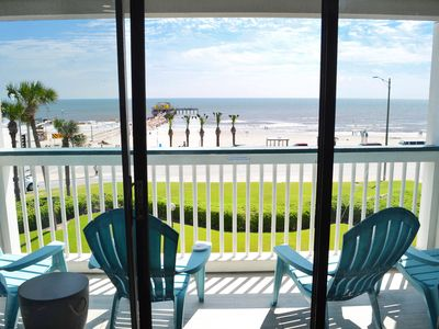 Photo for Stay in a TOP FLOOR condo with a FRONT ROW view!! So relaxing and clean! Casa Del Mar #302