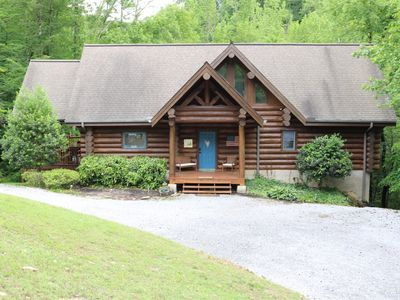 Photo for Heaven Sent is a  Norris Lake cabin Rentals lakefront with covered dock on a secluded cove.