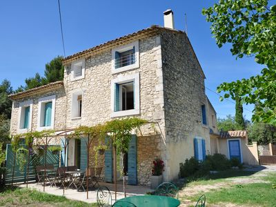 Photo for Beautiful old farmhouse with pool near Ventoux. 5 km to Venasque. 30 km Avigno