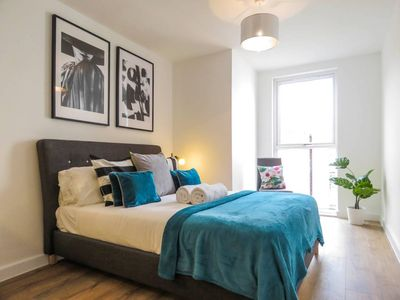 Photo for Modern design and spacious 1 bed near Birmingham Canal and the ICC