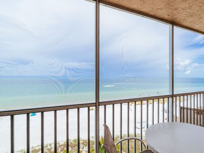 Photo for Enchanting Beach Views! Live the High Life from this Top Floor Beachfront Condo!