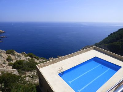 Photo for Appart + terrace, large pool, overlooking the sea