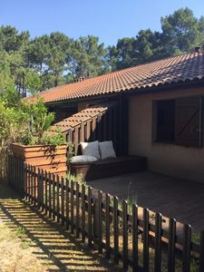 Photo for Small cozy villa in Lacanau ocean in the quiet of the pine forest, deco, and comfortable