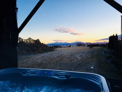 View from Fireweed's private hot tub (professional photos coming soon)