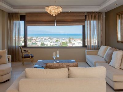 Photo for SeaView 4-Bedroom House inside Platanias!