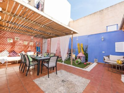 """Photo for Apartment a short walk away (367 m) from the """"S'Illot"""" in S'Illot-Cala Morlanda with Internet, Washing machine, Balcony, Garden (634977)"""
